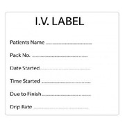 Burette & Additive Labels I.V Label
