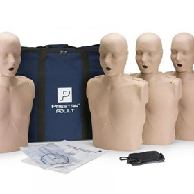 Professional Adult CPR-AED Training Manikins 4-Pack (with CPR Monitor)