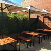 Commercial Aluminium Umbrellas - CAF4-2x2, 2m Square Straight Edge