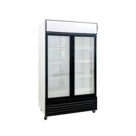 Double Glass Door Upright Fridge 1000 Litre | DFS1000