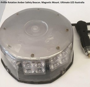 LED Emergency Safety Beacon | Amber Magnetic Mount Rotation USL-418M