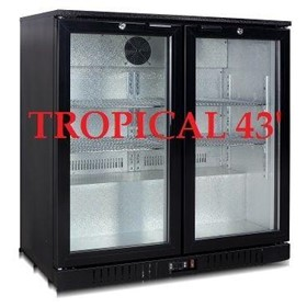 UnderBench Fridge | Beerkool 2-Door Tropical Black Alfresco Fridge