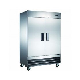 Stainless Steel Two Door Commercial Freezers