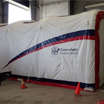 Inflatable Workshop Shelter | Portable Blasting Shelter | EzY 7045