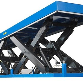 Large Platform Twin Scissor Lift Tables
