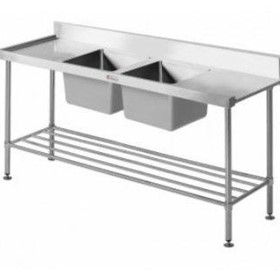 Stainless Steel Double Sink Bench 700 Series