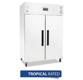 Polar 2 Door Upright Fridge 1200Ltr White - DL898-A