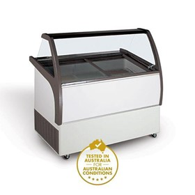 9 Tub Gelato Display Freezer