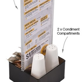 DL Menu Holder with Condiment Caddy