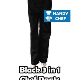 Black 3 in 1 Chef Pants