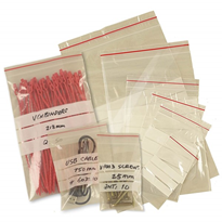 Clear Plastic Magic Seal Bags with Write on Panels Supplier