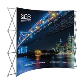 Display Stand & Equipment | DP-60 Curved Pop Up Wall (FABRIC)