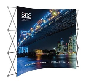 Display Equipment DP-60 Curved Pop Up Wall (FABRIC)