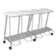 Soiled Linen Trolley | Quad Stainless Steel | SLT359SS