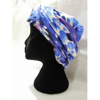 Headscarf | Blue/Purple Smudged Dots