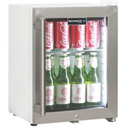 Cosmetics / Drinks White Mini Glass Door Fridge