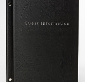 Guest Information Folders with Three Pockets