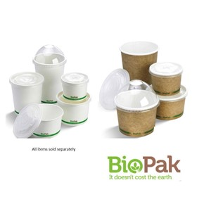 BioBowls Paper Bowls and Lids – 250ml, 430ml, 550ml, 740ml, 950ml