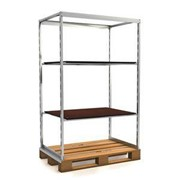 System Pallets w/ Non Slip Wooden Shelves