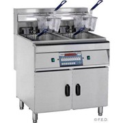 F.E.D. Computerised Double Vat Electric Deep Fryer | DZL-28-2