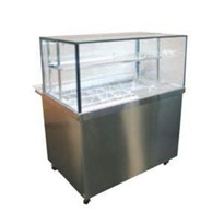 Cuisine Squared Glass Cold Food Display Cabinets