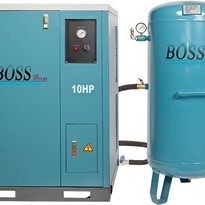 BOSS 48CFM/ 10HP Silent Workshop Air Compressor with 220L Tank
