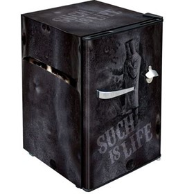 Ned Kelly Retro Mini Bar Fridge HUS-BC70B-NED