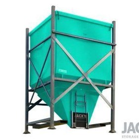 1600L Side Discharge JACKY Bin with Stackable Steel Base