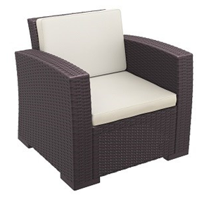 Monaco Lounge Armchair | Outdoor Resin Rattan
