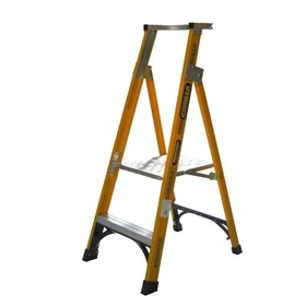 Fibreglass Platform Ladder 2 Steps