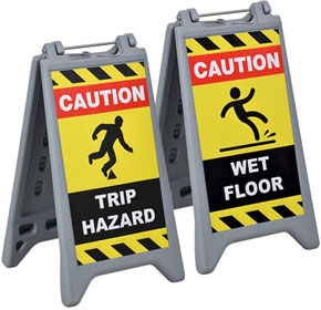 Wet Floor, Caution and Warning Signs