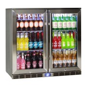 Rhino Glass 2 Door Energy Efficient Alfresco Bar Fridge | GSP2H-840-SS