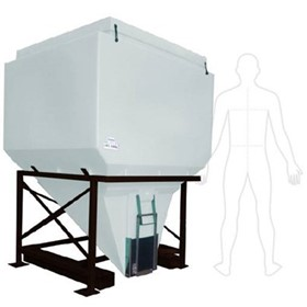 1730 Litre Self Discharging Hopper Bin | QPLA1500/8