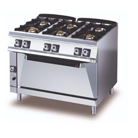 6 Burner Gas Range with Gas Static – Wide Oven -D76/10 CGGFL