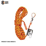 LINQ Kernmantle Ropes with Thimble Eye & Rope Grab 15M -  RKRG015