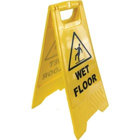 Safety Signs | Floor Stand Yellow 'Wet Floor'