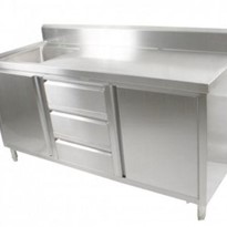 FED - Kitchen Tidy Cabinet With Left/Right Sink 700mm Deep