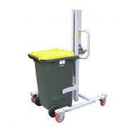 Wheelie Bin Lift Trolley, Manual Lift and Manual Push