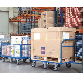Maximising warehouse workspace with tugger trains