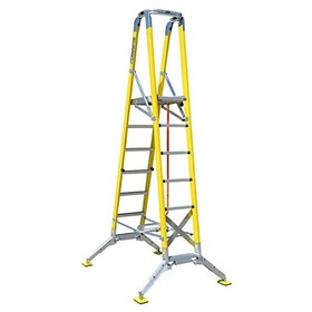 Fibreglass All Terrain Step Platform Ladder | FPW-AT 3.6