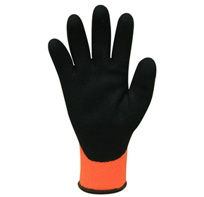 Acrylic Thermal Gloves Black Sandy Latex Coating - Modina - M Series