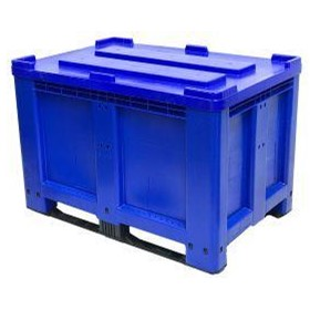 CTH2 800 Solid 520L Plastic Pallet Bin & 2 Skids Runners