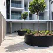 Customised HDPE Planter Boxes in Landscaping