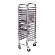 Gastronorm Trolley 16 Tier Stainless Steel Suits GN 1/1 Pans