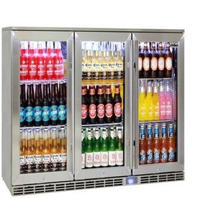Glass 3 Door Alfresco Outdoor Bar Fridge