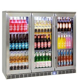 Rhino Glass 3 Door Alfresco Outdoor Bar Fridge
