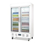 Polar Upright Double Door Display Fridge 944Ltr - White