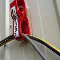 Magnetic Safety Clip for Electric Leads and Power Cables