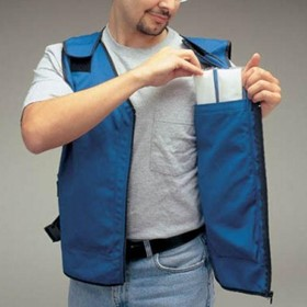 Cooling Vest with Phase Change Cooling Inserts