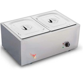 Stainless Steel Electric Bain-Marie Food Warmer 2*4.5L